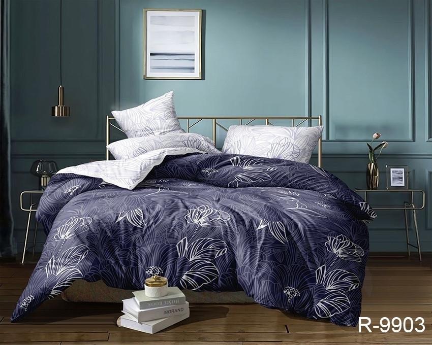 Евро комплект постельного белья - ренфорс с компаньоном R9903
