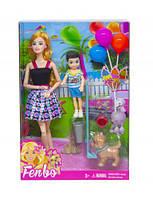 Кукла с пупсом (черный) FB061/062