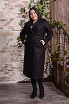 Женское двубортное удлиненное пальто больших размеров с 48 по 82 размер, фото 3