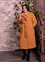 Элегантное женское двубортное удлиненное пальто больших размеров с 48 по 82 размер