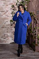 Стильное женское двубортное удлиненное пальто больших размеров с 48 по 82 размер