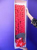 Подарочный букет 99 роз из мыла для любимых девушек