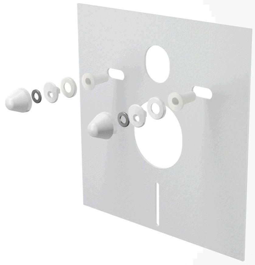 Звукоизоляционная плита с принадлежностями 420x400x6 Alcaplast M930