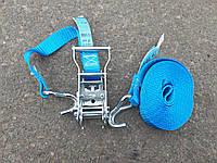 Багажная лента с трещеткой 1 Т. (4 м. 2 крючка)