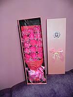 Подарочный букет 17 роз ручной работы для любимых женщин, фото 1