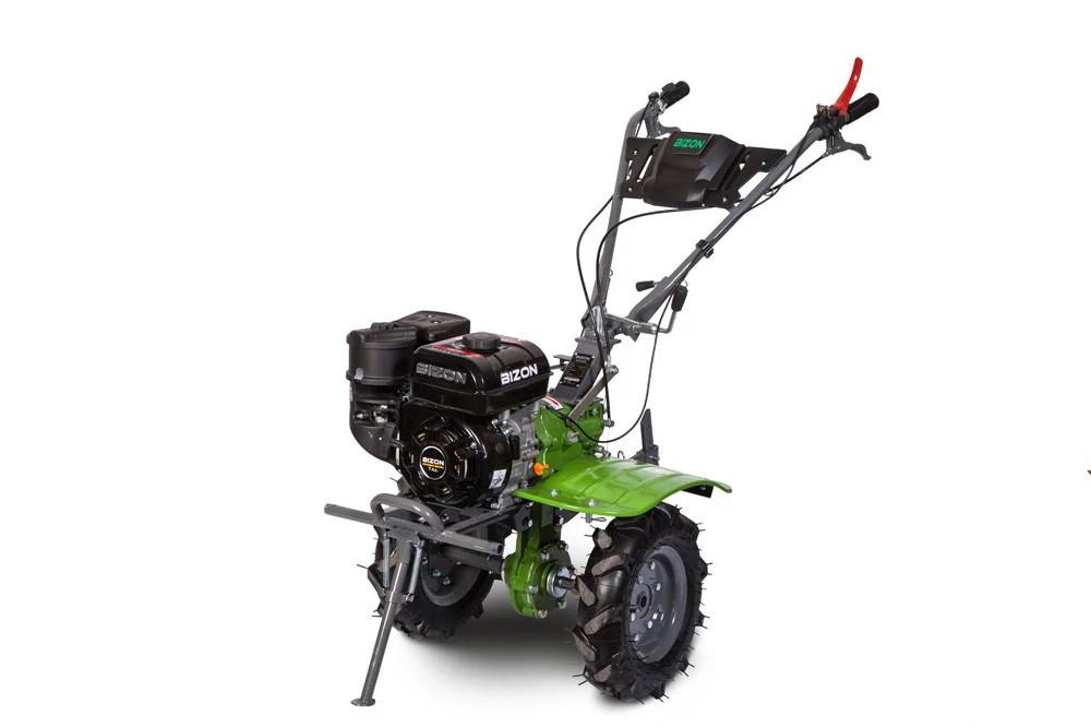 Мотоблок BIZON 1100S-3 LUX (бензин 7 л.с., колеса 4.00-8, редуктор, фреза 2+1+1, 32 ножа)