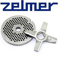 ➜ Нож для мясорубки Zelmer №8 (двухсторонний) и решетка мелкая