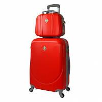 Комплект Bonro Smile чемодан + кейс большой, красный