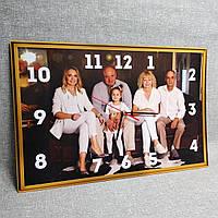 Часы Настенные с Вашей семейной фотографией. Прямоугольные, фото 1