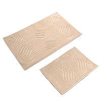 Набор ковриков для ванной комнаты с эффектом 2 шт YELPAZE