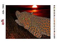 Алмазная вышивка «Гепард». АВ-2001(А2). Частичная выкладка