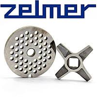 Нож и решетка средняя для электромясорубки Zelmer №5