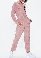 Комбинезон стильный вельветовый беж, розовый, фото 1