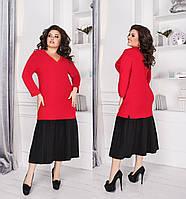 Женское платье большого размера.Размеры:48-62+Цвета, фото 1