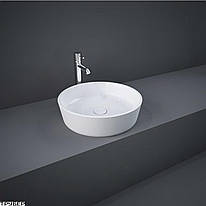 Раковина на столешницу RAK Ceramics Moon 42 см, круглая, белая HAR106AWHA