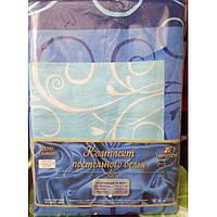 Молдавское полуторное постельное белье Бязь Tirotex - Голубой вензель