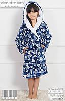 Детский халат для девочки махровый