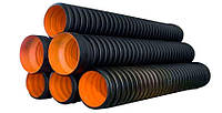 Труба гофрированная пэ SPIRO (спиро)  ДУ630 для безнапорной канализации