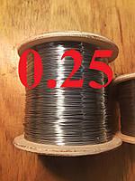 Проволока для рамок нержавеющая 0,25 мм 0,25кг