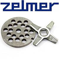 ➜ Нож для мясорубки Zelmer NR8 (двухсторонний) и решетка крупная