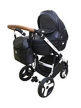 Ajax Group AMMI универсальная коляска 2 в 1 черный (А-05) (ткань/эко-кожа)