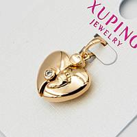 Кулон Xuping G-1154 очень красивый золотистый Сердечко