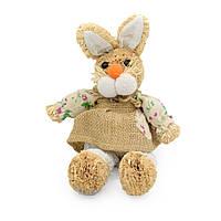 Інтер'єрна іграшка зайка солом'яний 30 см 19х19х14 см (41206.002)