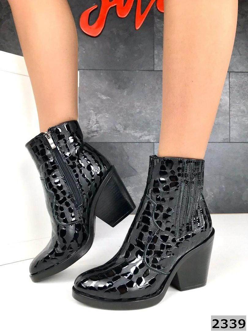 Женские демисезонные ботинки казаки черного цвета, натуральная кожа 40 ПОСЛЕДНИЙ РАЗМЕР