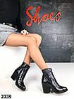 Женские демисезонные ботинки казаки черного цвета, натуральная кожа 40 ПОСЛЕДНИЙ РАЗМЕР, фото 4