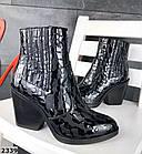 Женские демисезонные ботинки казаки черного цвета, натуральная кожа 40 ПОСЛЕДНИЙ РАЗМЕР, фото 5
