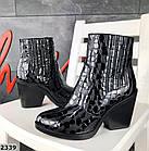 Женские демисезонные ботинки казаки черного цвета, натуральная кожа 40 ПОСЛЕДНИЙ РАЗМЕР, фото 6