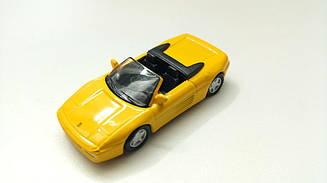 Модель Ferrari micro cars 348 Spider в масштабе 1:100 (желтый)