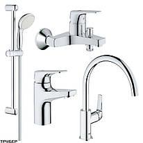 121640 K Bau Flow Набор смесителей 4 в 1 для ванны и кухни