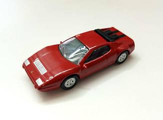 Модель Ferrari micro cars 512 BBi в масштабе 1:100 (красный)