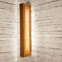 Деревянный настенный светильник Vela Brashka