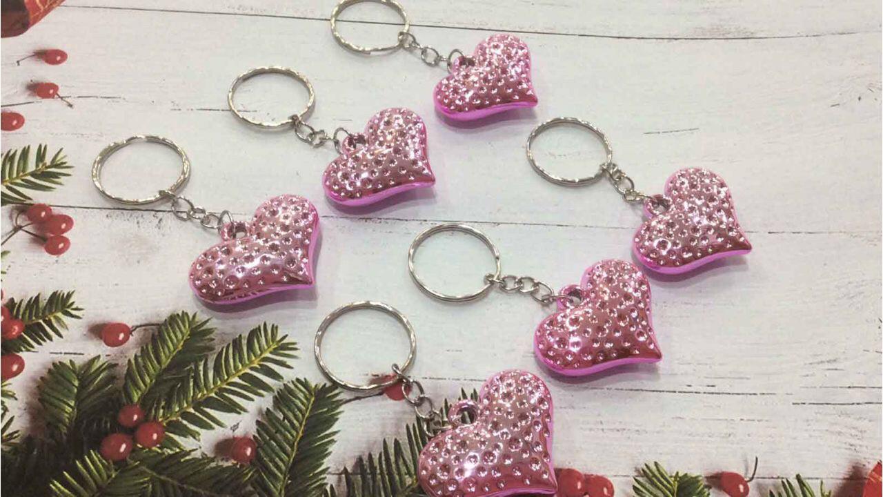 Брелок Сердце розовое