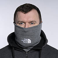 Бафф мужской зимний теплый качественный серый горловик снуд The North Face
