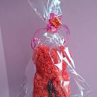 Мишка из роз 25 см подарок девушке на 14 февраля