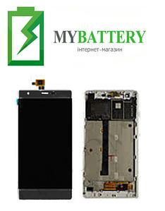 Дисплей (LCD) Nomi i506 Shine с сенсором черный + рамка сервисный оригинал