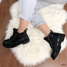 Ботинки женские черные зимние эко кожа 11\3640, фото 2