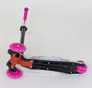 "Самокат А 25535 /779-1333 MAXI ""Best Scooter"" (1) пластмассовый, 4 колеса PU, СВЕТ, фото 2"
