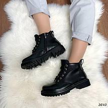 Ботинки женские черные зимние эко кожа 11\3640, фото 3