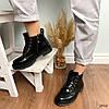Ботинки женские черные зимние эко кожа 11\3640, фото 6