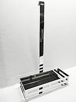 Полочка навесная, одинарная 500*300*136мм, хром