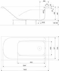 Ванна Comfort 1.6 (с ножками) KOLO XWP3060000