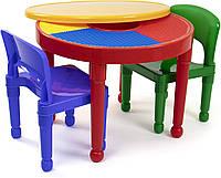 Круглый детский столик 2в1 для творчества и игр с Лего, Tot Tutors США, фото 1