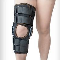Ортез коленного сустава, неопреновый, шарнирный, с регулированным углом сгиба Алком 4032.