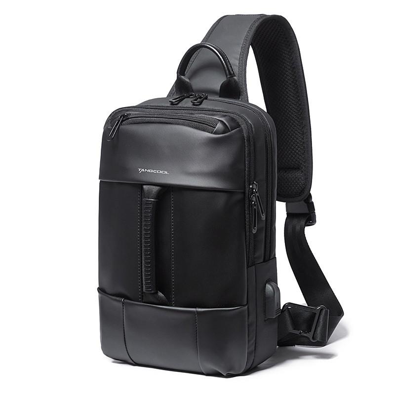Однолямочный рюкзак Tangcool TC77106, с USB портом и двумя отделениями, влагозащищённый, 6л
