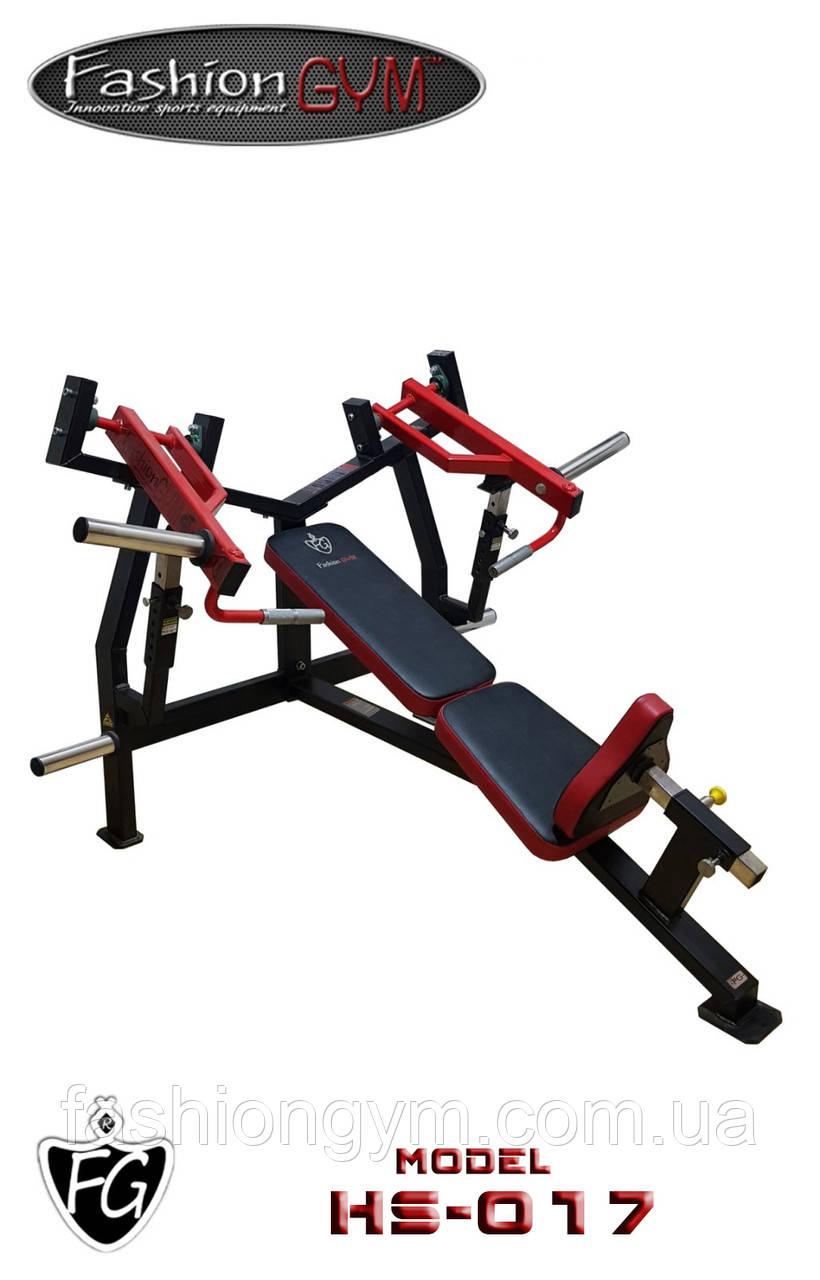Тренажер (скамья для жима) HS-017, жим под углом, жим лежа.