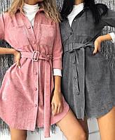 Р 42-48 Вельветове сукня - сорочка 20870, фото 1